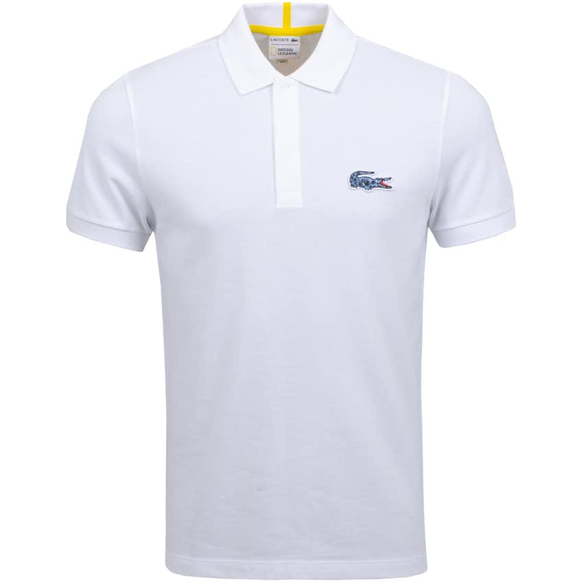 x National Geographic Frog Print Croc Polo White - AW20