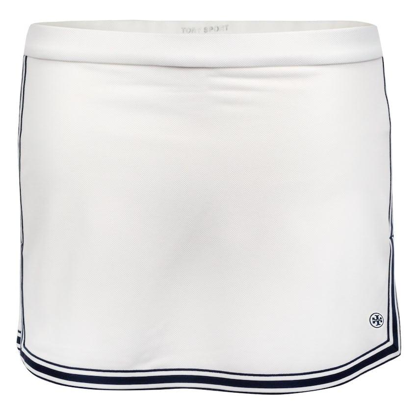 Tory Sport Womens Side-Slit Tennis Skirt Snow White - AW20 0