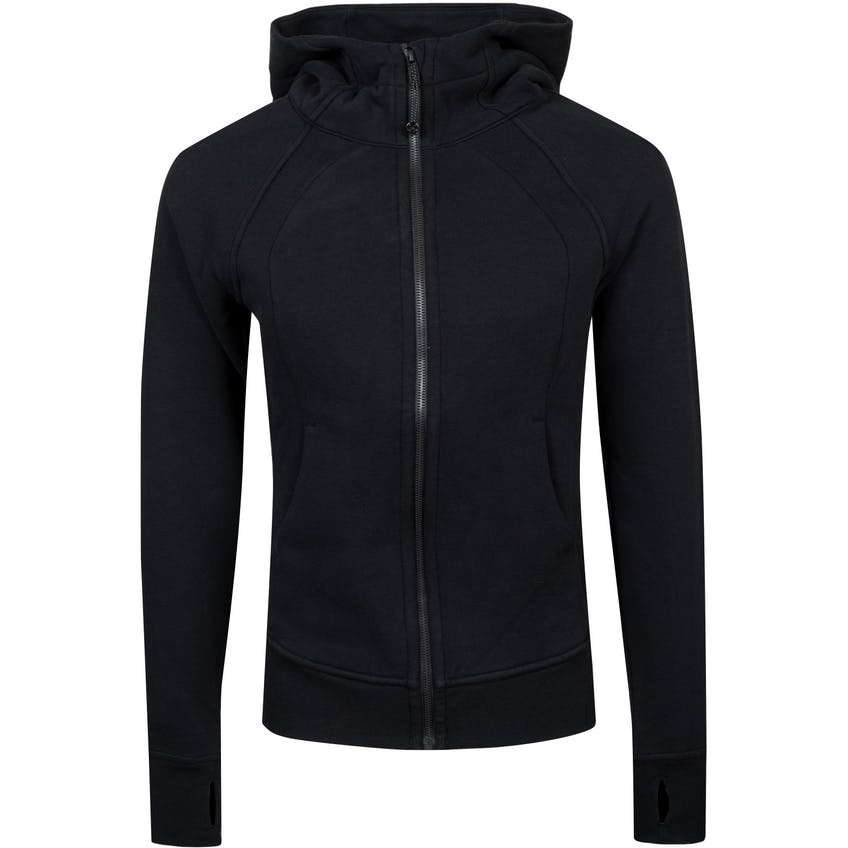 x TRENDYGOLF Womens Scuba Hoodie *Light Cotton Fleece Black - 2021
