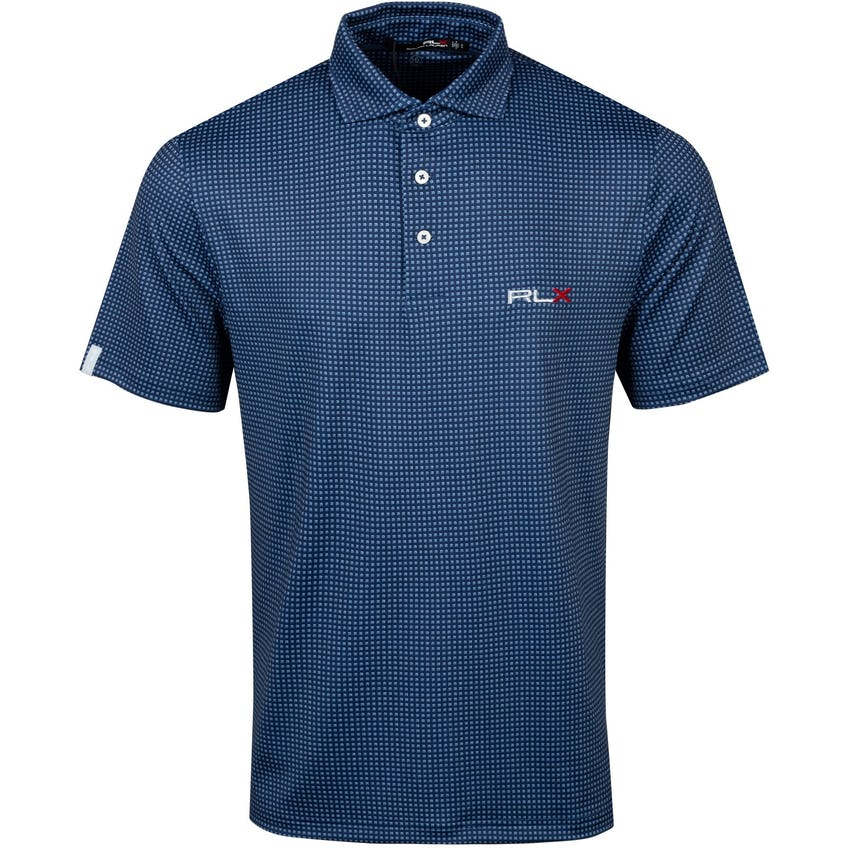 Printed Lightweight Airflow Polo French Navy Corner Deco