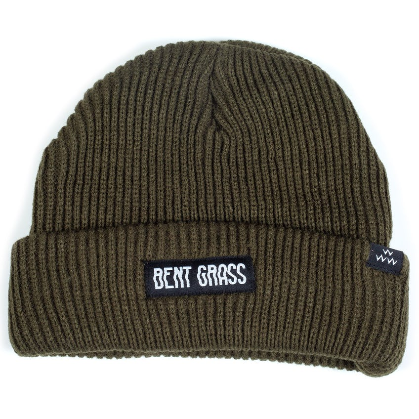 Bent Grass Dew Sweeper Beanie Olive - AW20 0