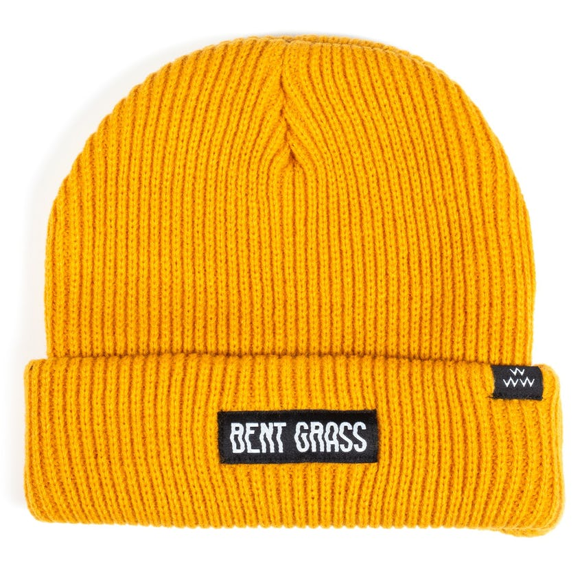 Bent Grass Dew Sweeper Beanie Mustard - AW20 0