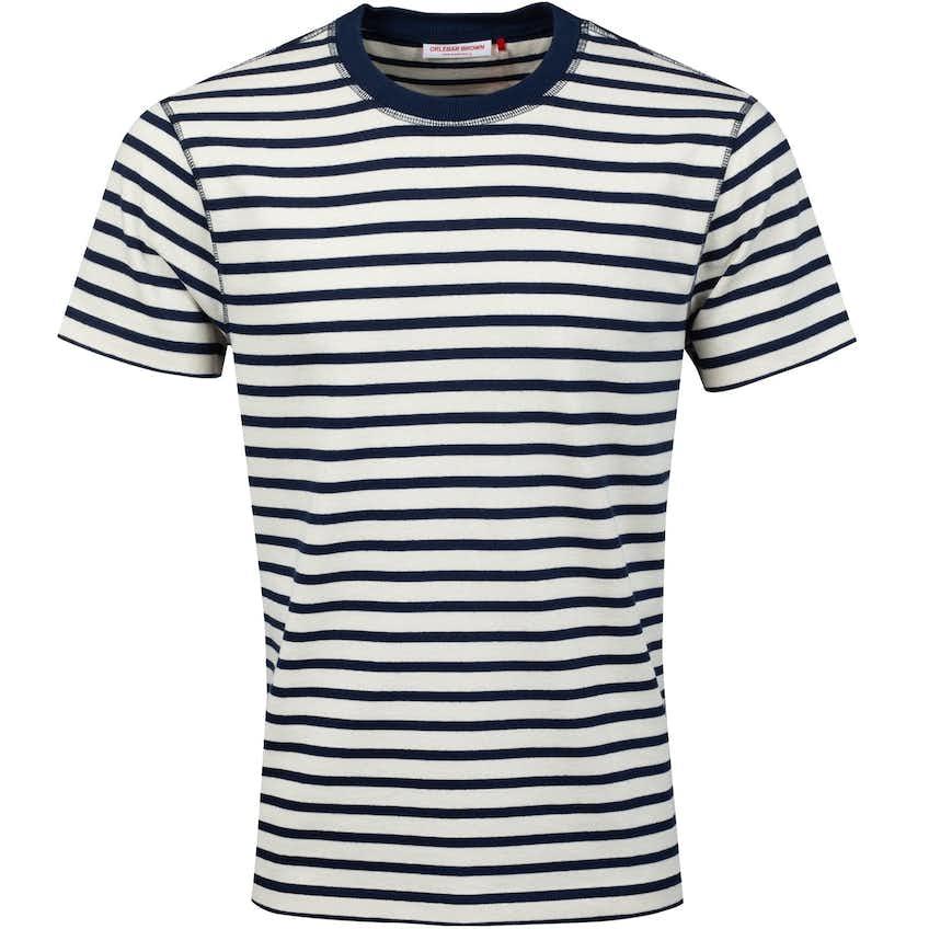 Sammy Deck Stripe T-Shirt Navy/White Sand - AW20