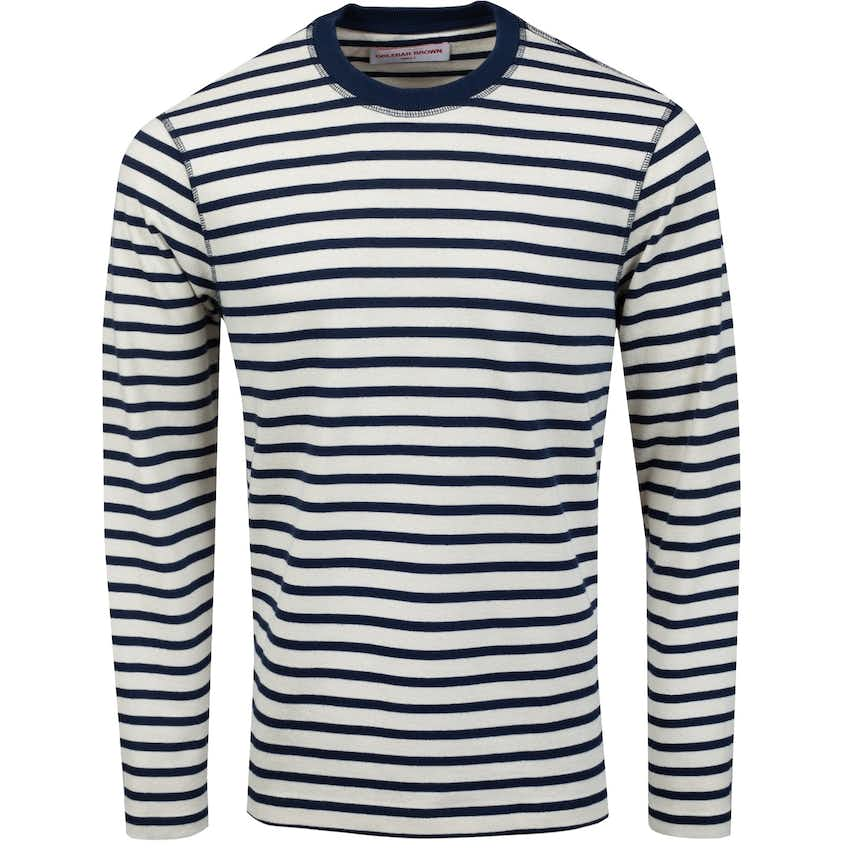 Graydon Deck Stripe Crew Navy/White Sand - AW20