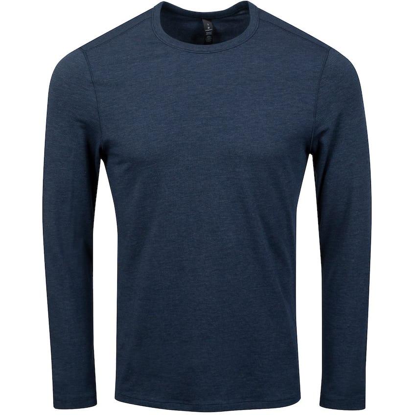 x TRENDYGOLF 5 Year Basic Long Sleeve Tee Heathered Nautical Navy - 2021