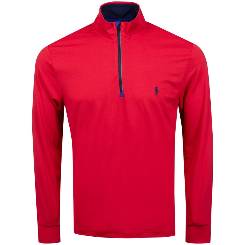 Half Zip Peached Jersey Sunrise Red - SS21