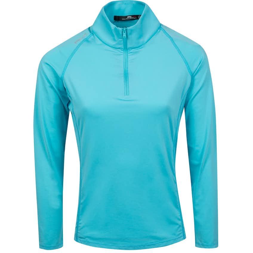 Womens Long Sleeve UV 1/4 Zip Hammond Blue - SS21