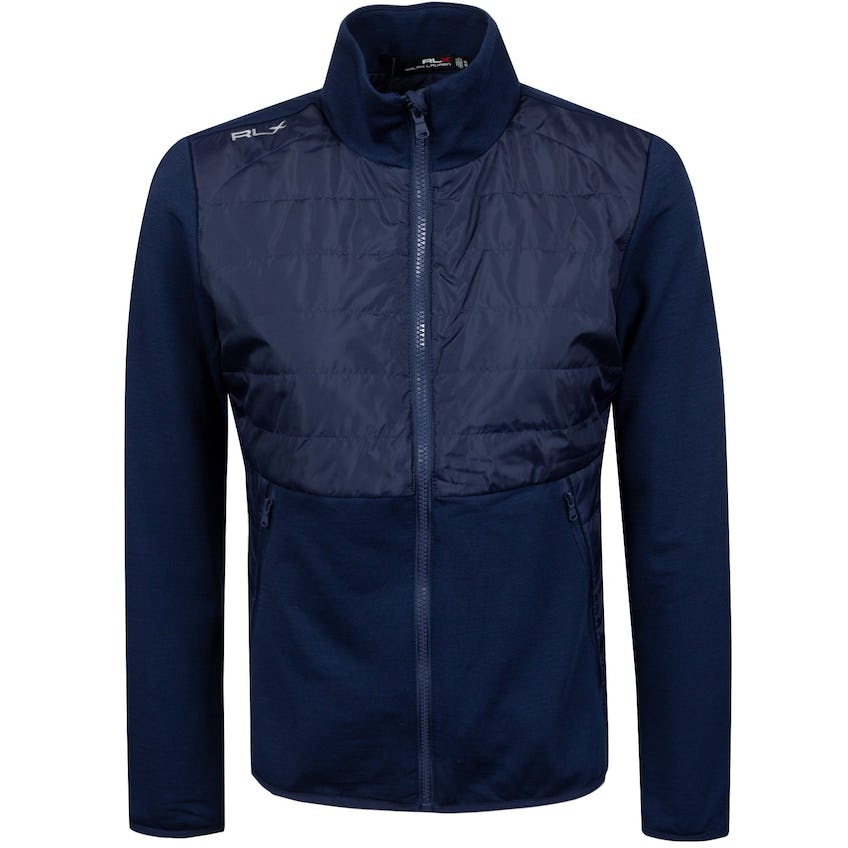 Womens Cool Wool Full Zip French Navy - SS21