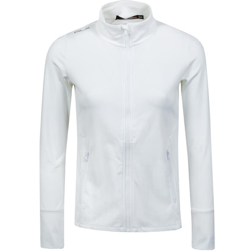 Womens Eyelet Full Zip Layer Pure White - SS21