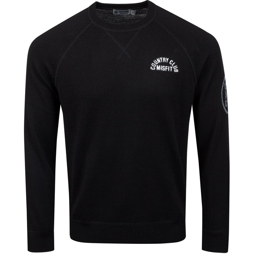 x TRENDYGOLF Country Club Misfit Crewneck Sweater Onyx - AW20