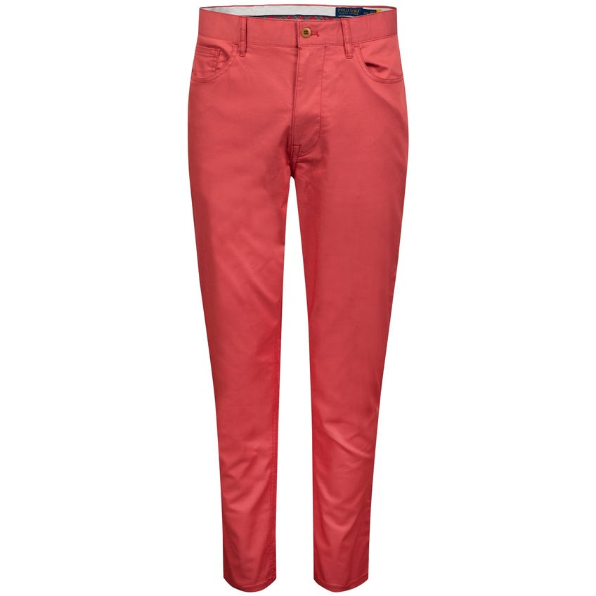 Tailored Fit 5-Pocket Perfomance Pant Nantucket Red - AW20