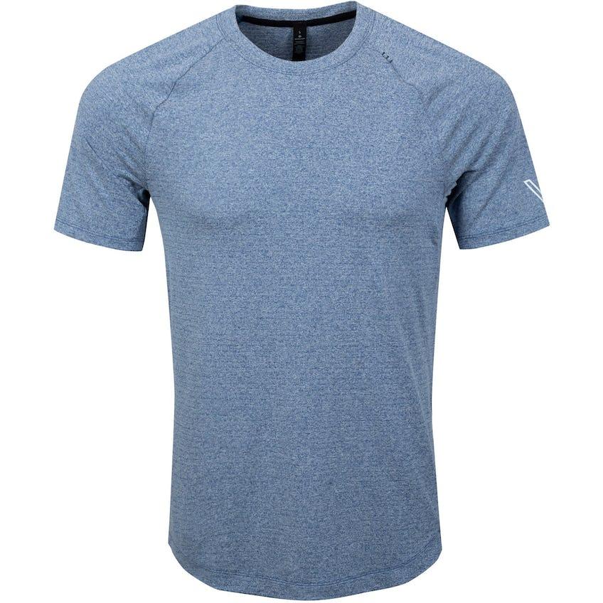 x TRENDYGOLF Drysense Short Sleeve Heathered Regatta Blue - SS21