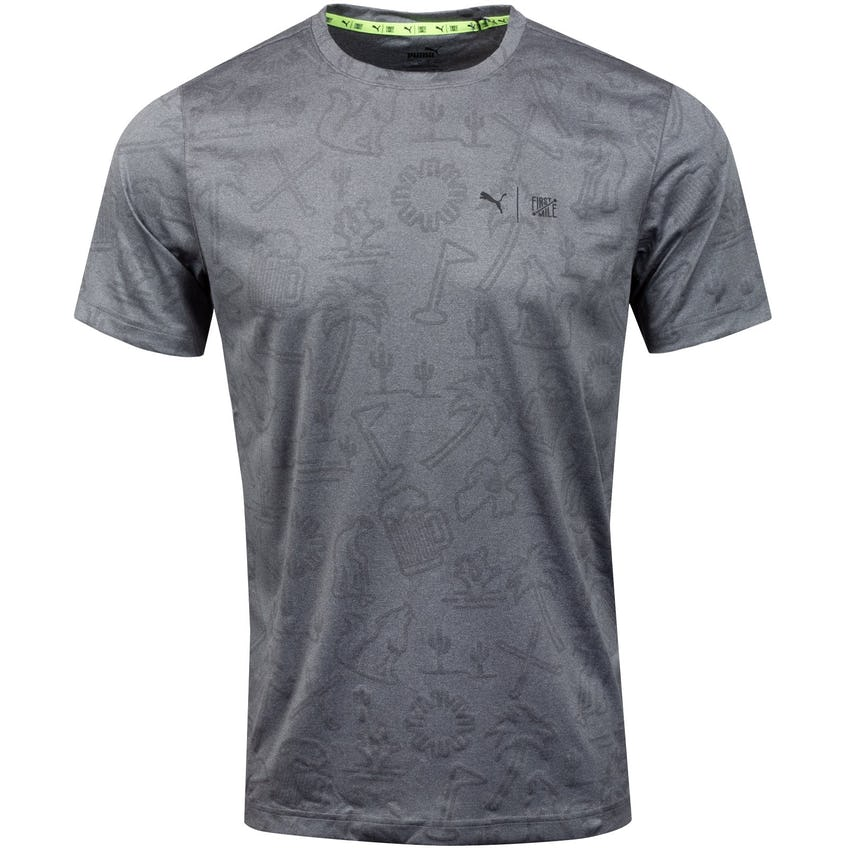 First Mile Flash Tee Quiet Shade Heather - SS21