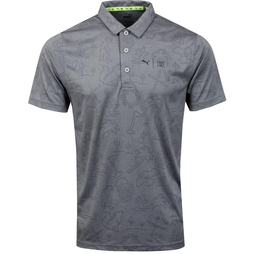 First Mile Flash Polo Shirt  Quiet Shade Heather - SS21