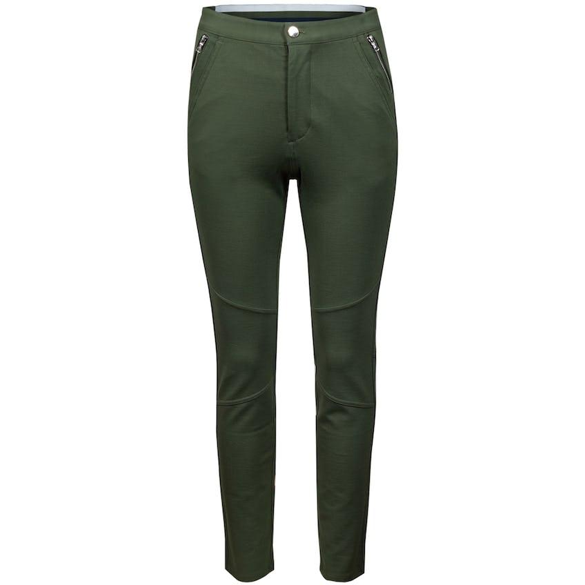 Womens Slim Leg Ponte Moto Trouser Olive - SS21 0