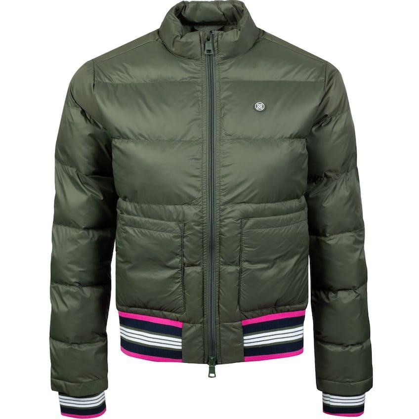 Womens Nylon Puffer Jacket Olive - SS21 0