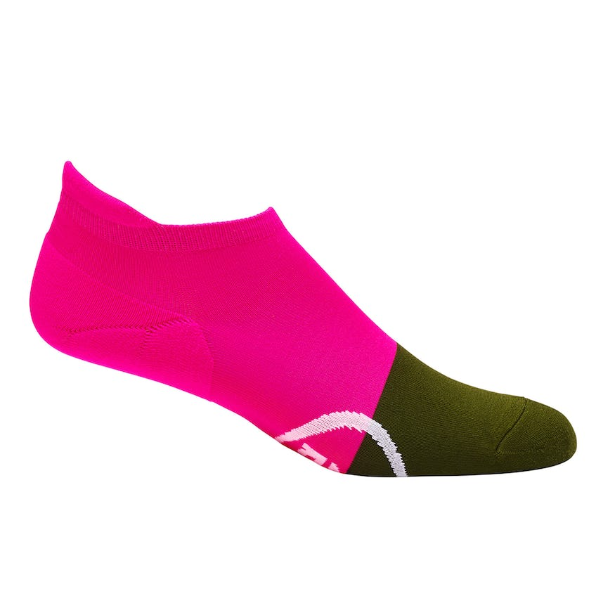 Womens Two-Tone No Show Sock Deep Green/Pink - SS21 0