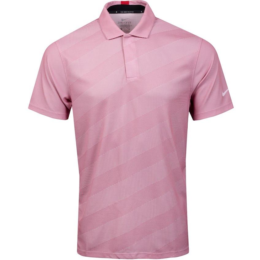 TW Dry Stripe Polo Dark Pink Foam - SS21