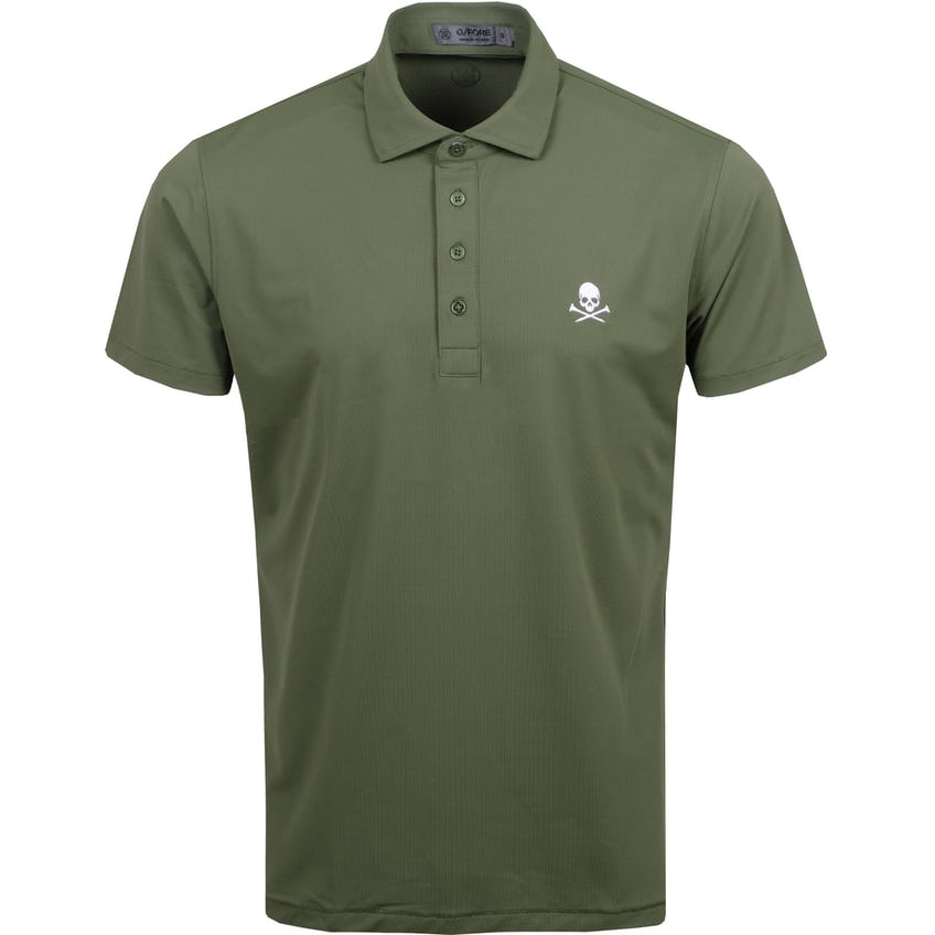 x TRENDYGOLF Skull Pique Polo Olive - SS21