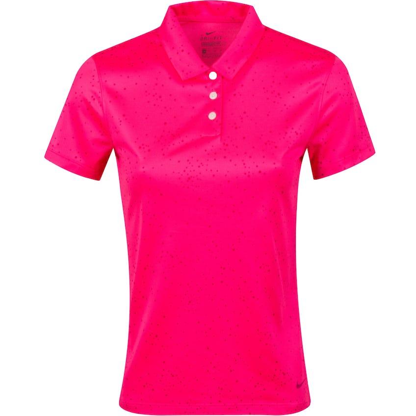 Womens Dry SS Dot Print Polo Hyper Pink/Fireberry - SS21