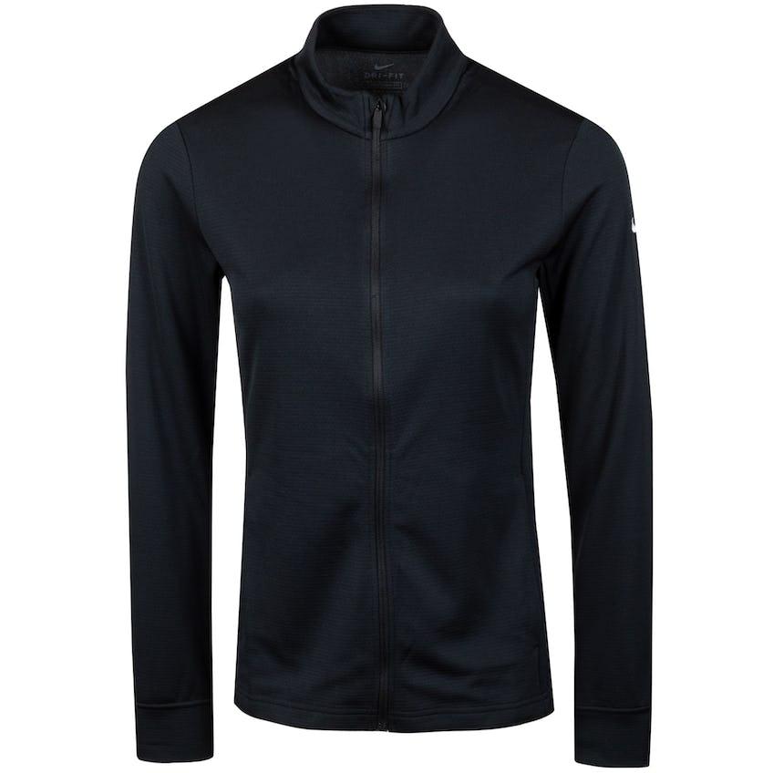 Womens Dri-FIT UV Full Zip Top Black/White - SS21