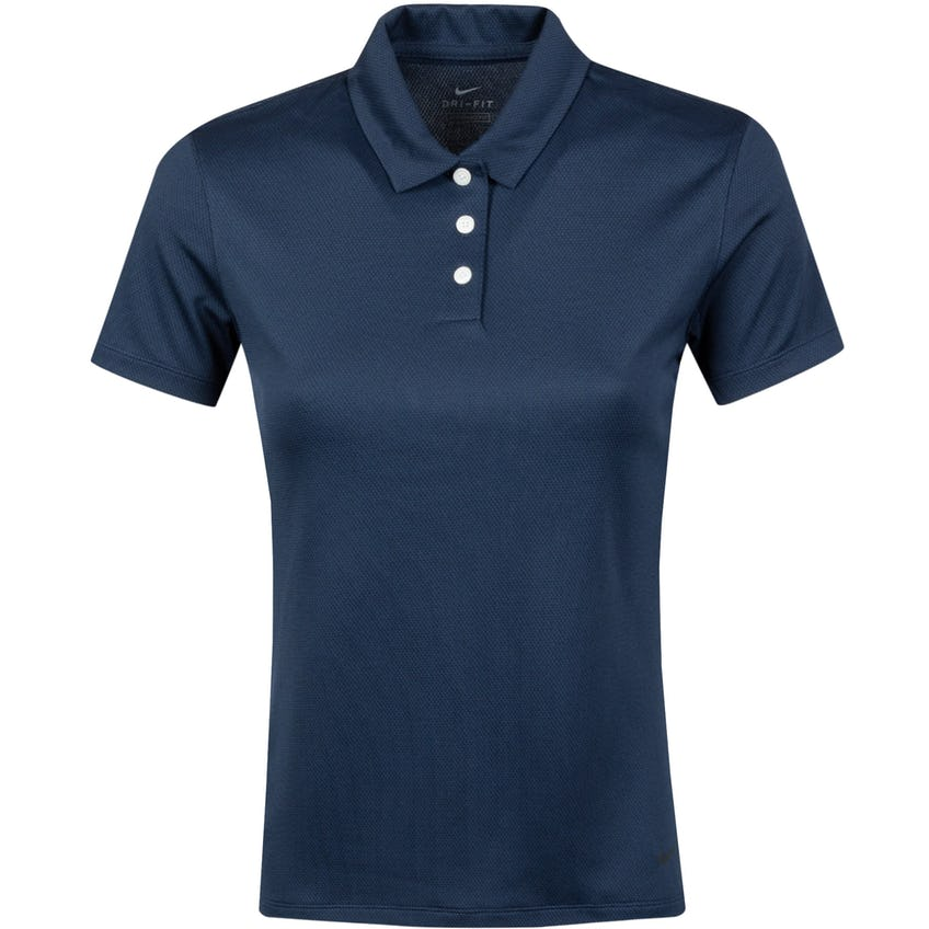 Womens Dri-FIT Victory SS Texture Polo Obsidian/Black- SS21