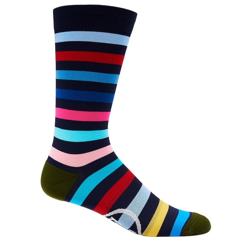 Multi-Striped Crew Sock Twilight- SS21