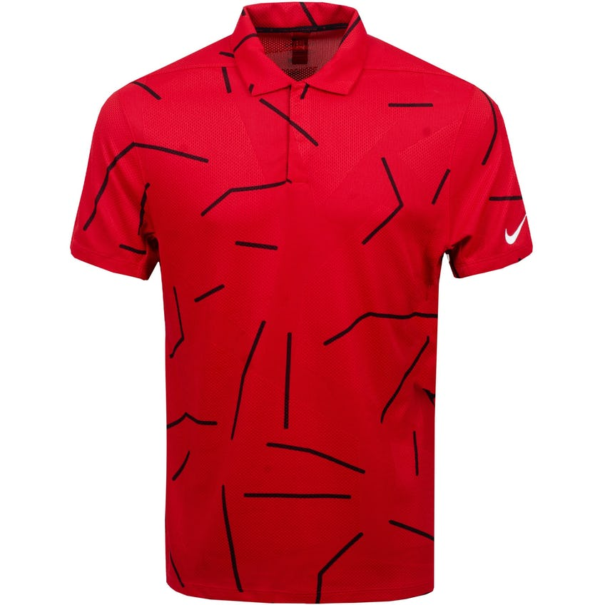 TW Dry Course Jacquard Polo Gym Red/Black - SS21