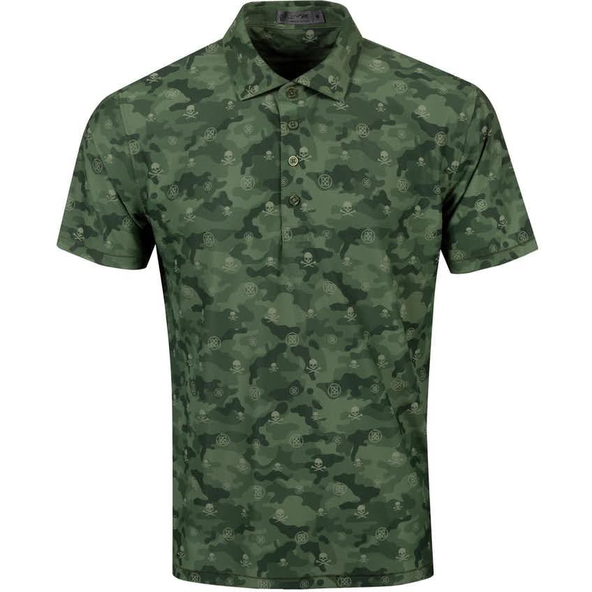 Camo Printed Polo Olive - SS21