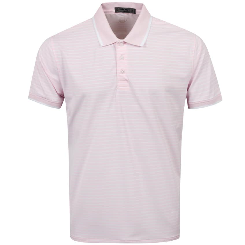 Perforated Stripe Polo Blush - SS21