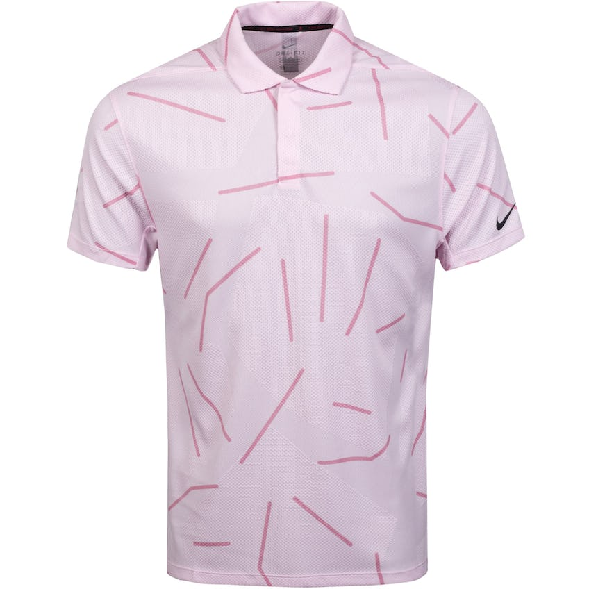 TW Dry Course Jacquard Polo Pink Foam/Black - SS21