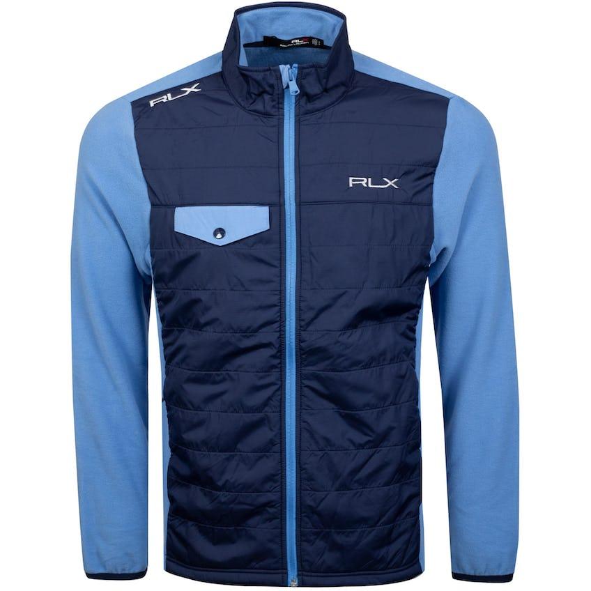 Primaloft Fleece and Nylon Full Zip Fall Blue/French Navy 0