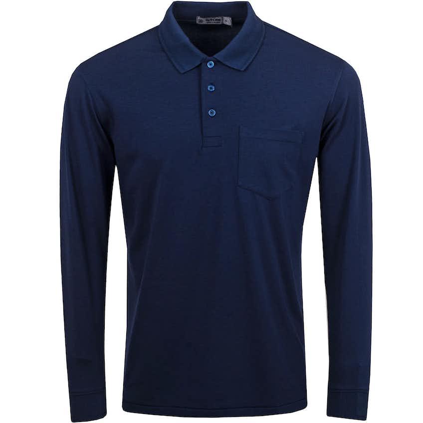 Luxe Long Sleeve Polo Twilight - SS21
