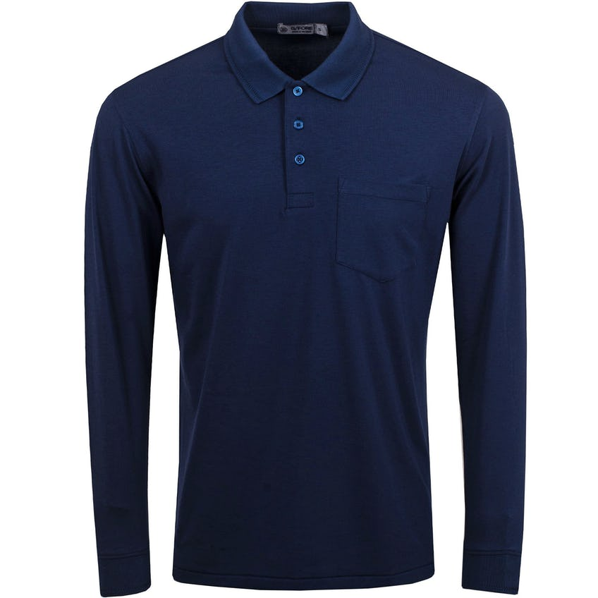Luxe Long Sleeve Polo Twilight - SS21