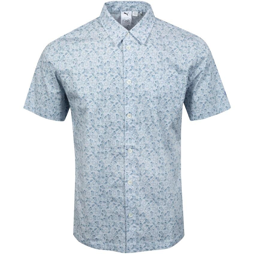 AP 19th Hole Button Down Shirt Halogen Blue - SS21