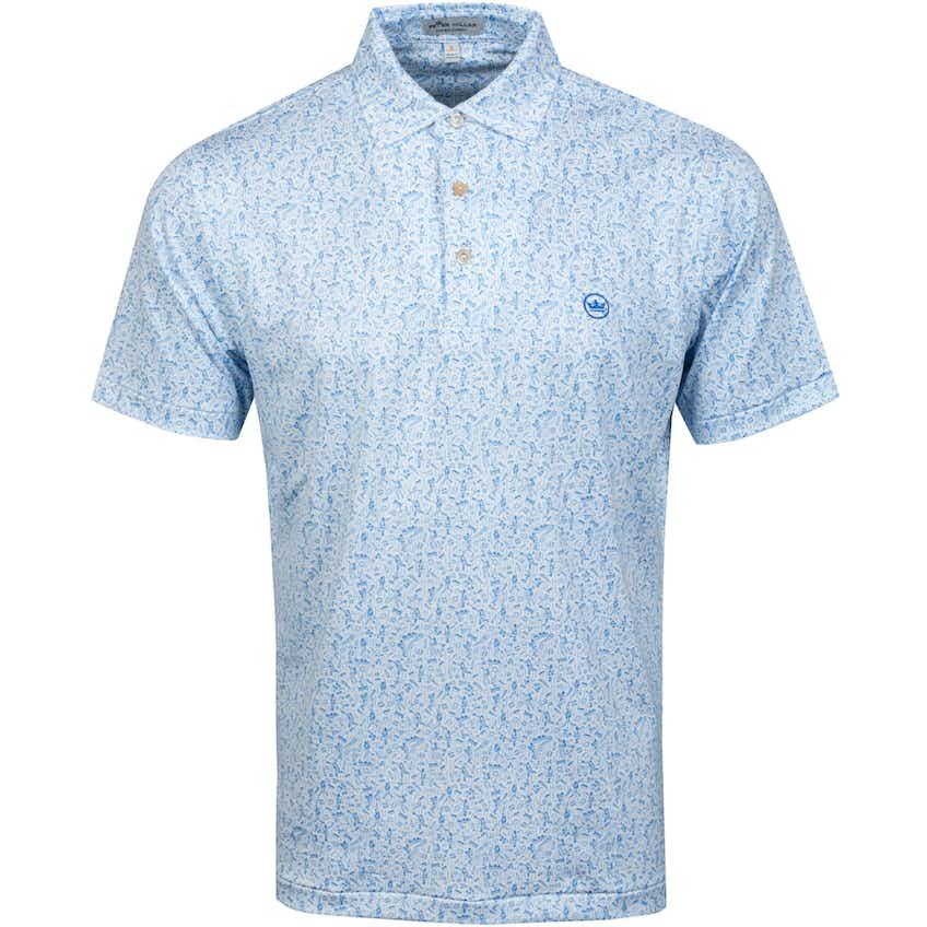 Diamond Printed Baseball Jersey Polo Shirt White - SS21