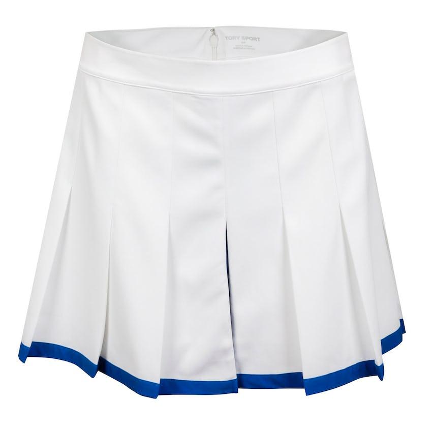 Womens Tech Twill Pleated Tennis Skirt Snow White