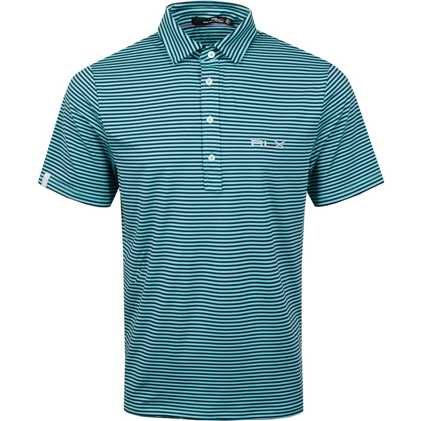 The RLX Classic Polo Shirt Club Turquoise/French Navy - SS21