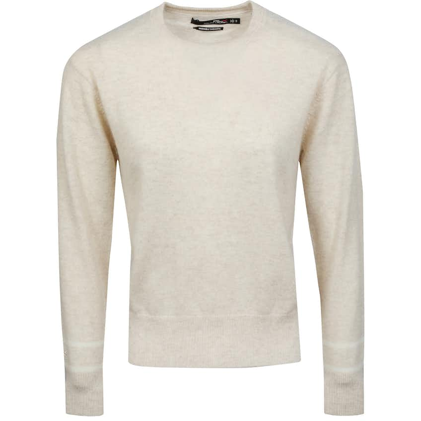 Womens Washable Cashmere Crewneck Panama Heather/Cream - SS21