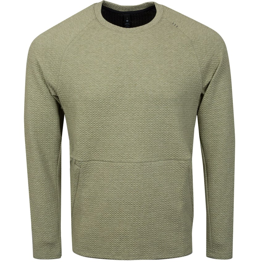 x TRENDYGOLF At Ease Crew Heathered Rosemary Green/Black - SS21 0