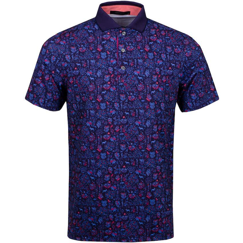 Flora & Fauna Polo Shirt Raven - SS21