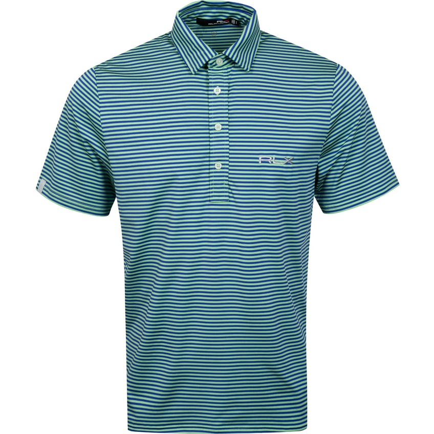 The RLX Classic Polo Shirt Lime Drop/Royal Blue - SS21