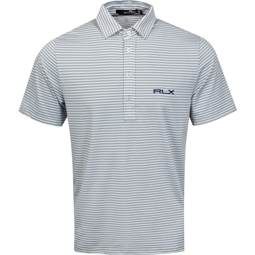 The RLX Classic Polo Shirt Dark Sport Heather/Pure White - SS21