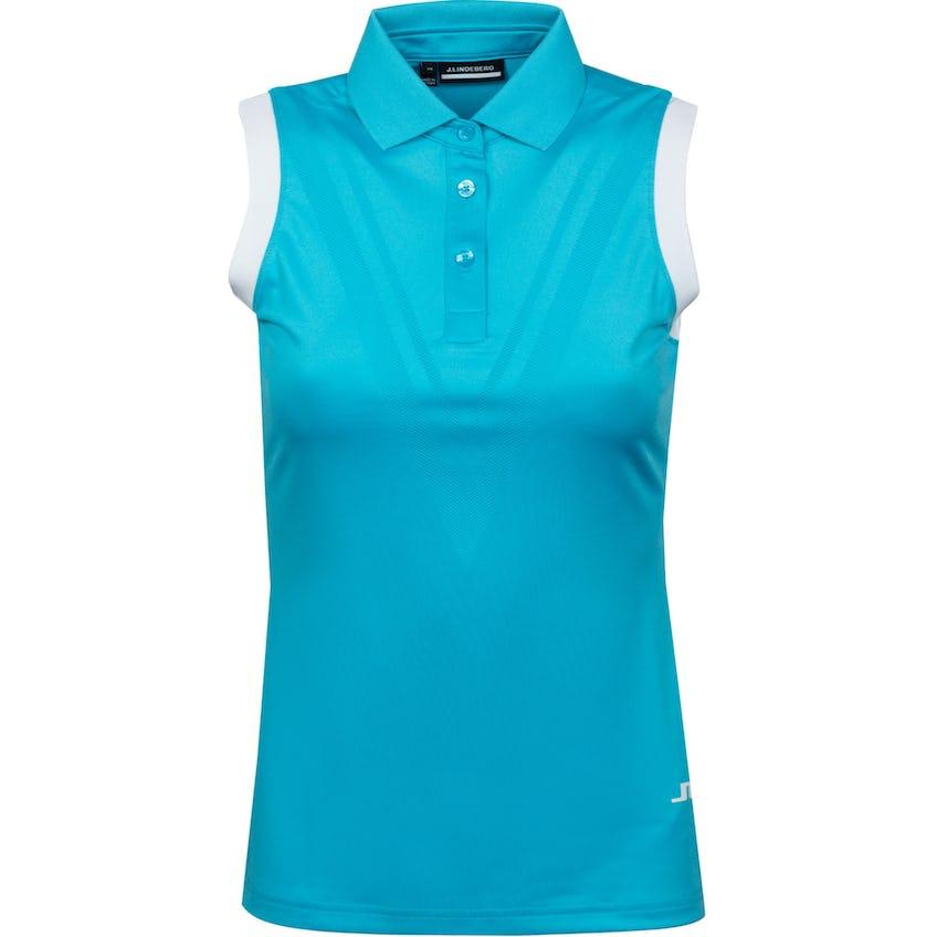 Womens Lucie Active Mesh Sleeveless Polo Beach Blue - SS21