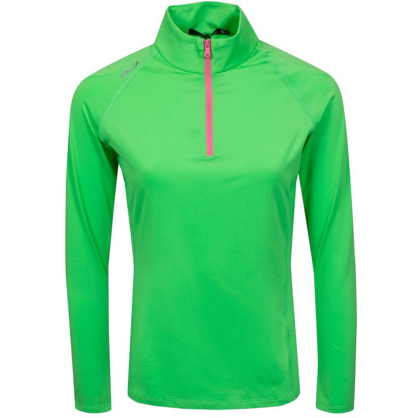 Womens Long Sleeve UV 1/4 Zip Force Green - SS21 0