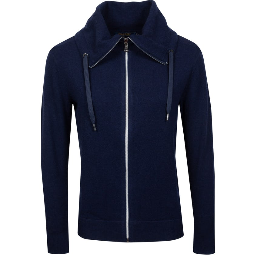 Womens Cashmere Funnel Neck Sweater Hunter Navy - SS21 0