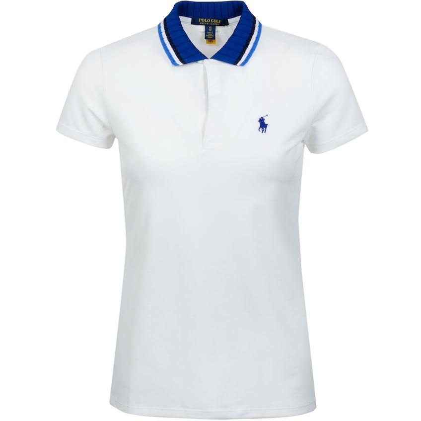 Womens Drop Needle Pique Polo Shirt Pure White - SS21 0