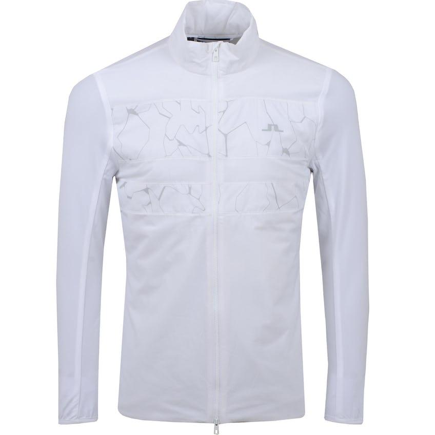 Packlight Hybrid Jacket Light Mid Print Slit White - SS21