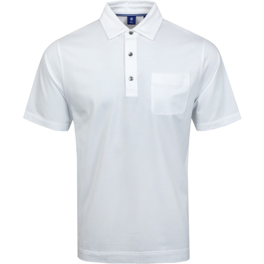 Pima Lisle Chest Pocket White - SS21