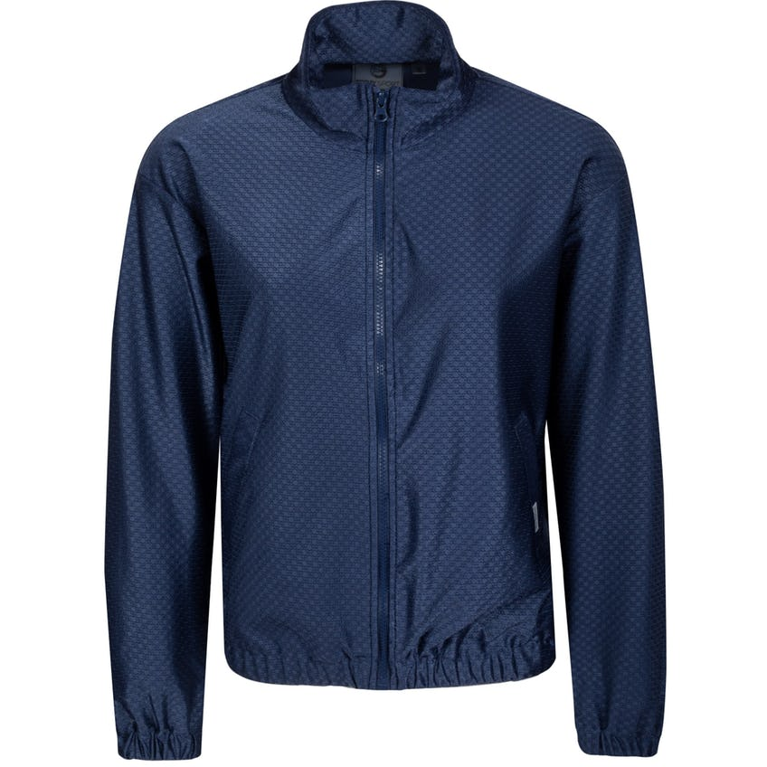 Womens Core Geo Textured Track Jacket Navy 0
